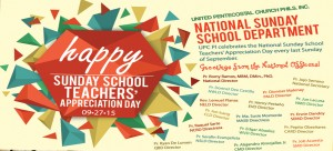 National Sunday School Teachers Day